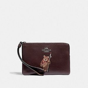 NWT Coach Star Wars Ewok Limited Edition Wristlet!